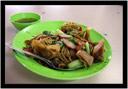 Nudle od staříka na sídlišti ostrova Penang